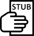Pay stub icon